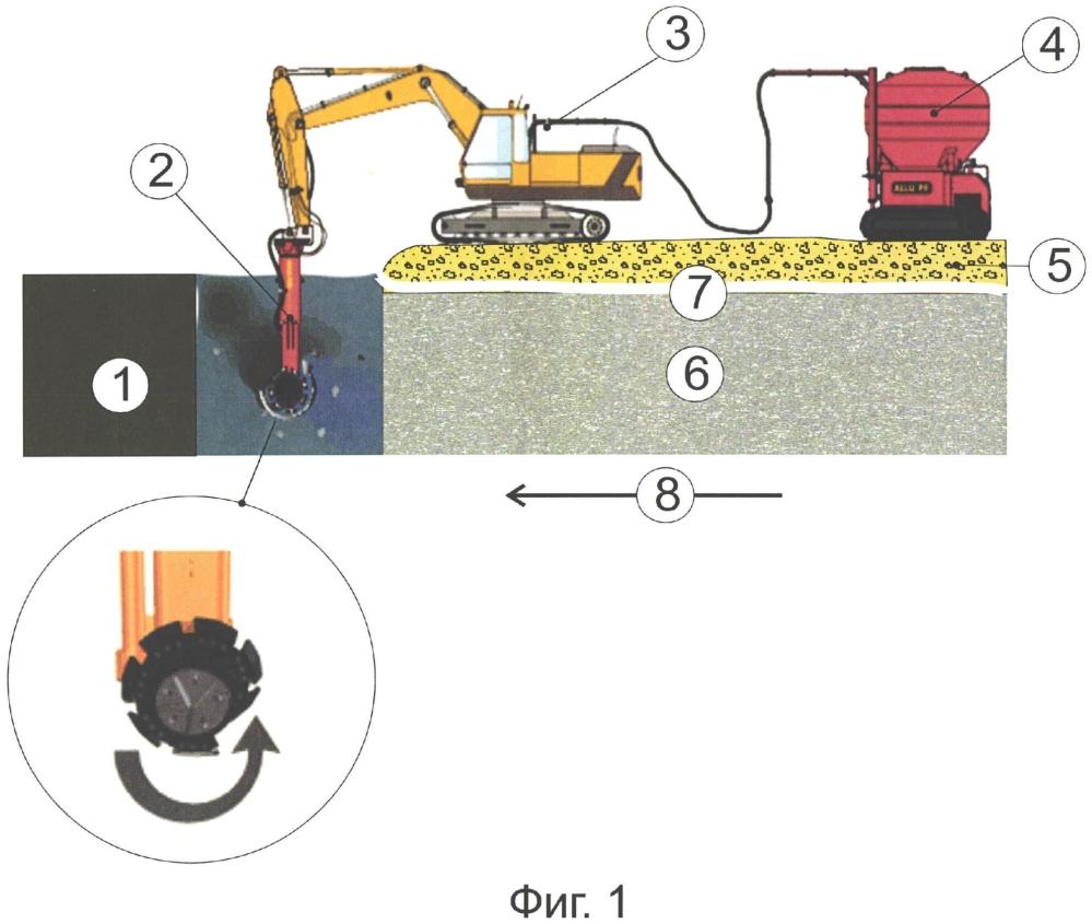 Способ усиления природного основания, сложенного слабыми грунтами, для возведения земляного полотна