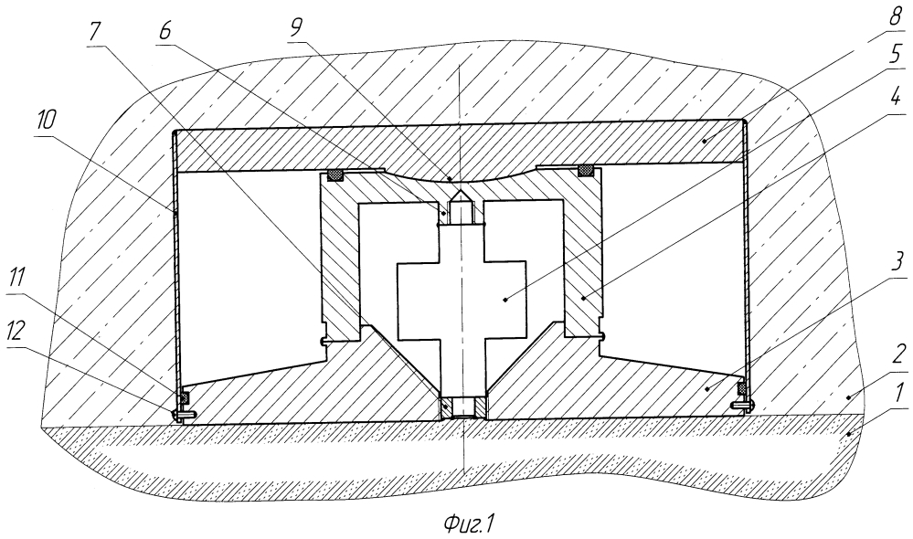 Датчик давления фундаментной плиты на грунт