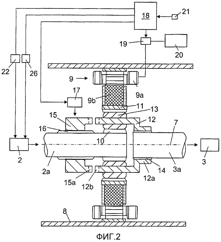 Система привода для гибридного транспортного средства, оснащенная средством вычисления крутящего момента двигателя на основании крутящего момента электродвигателя