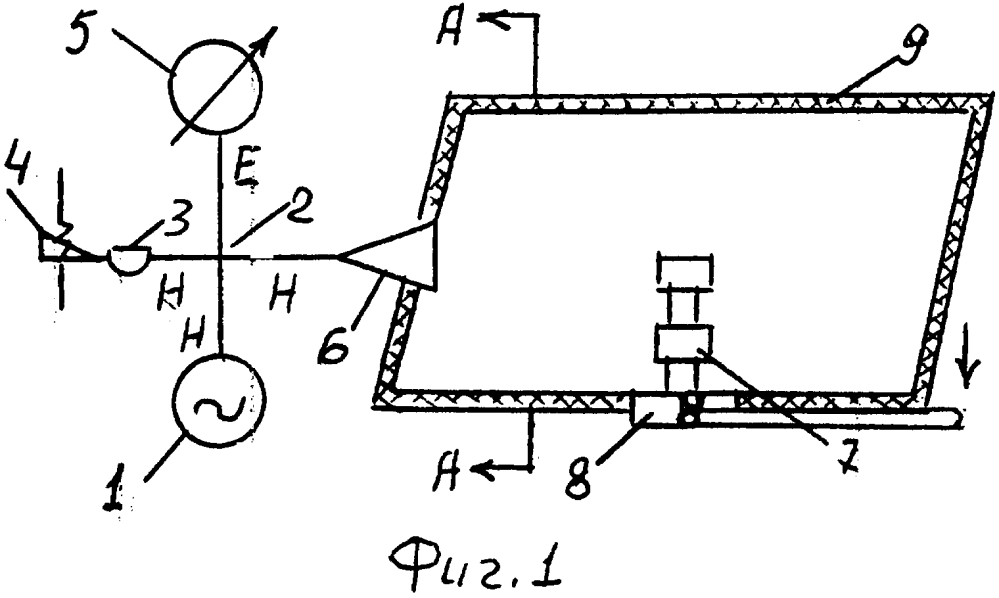 Радиоизмерительная установка для измерения эффективной площади рассеяния модели радиолокационных целей