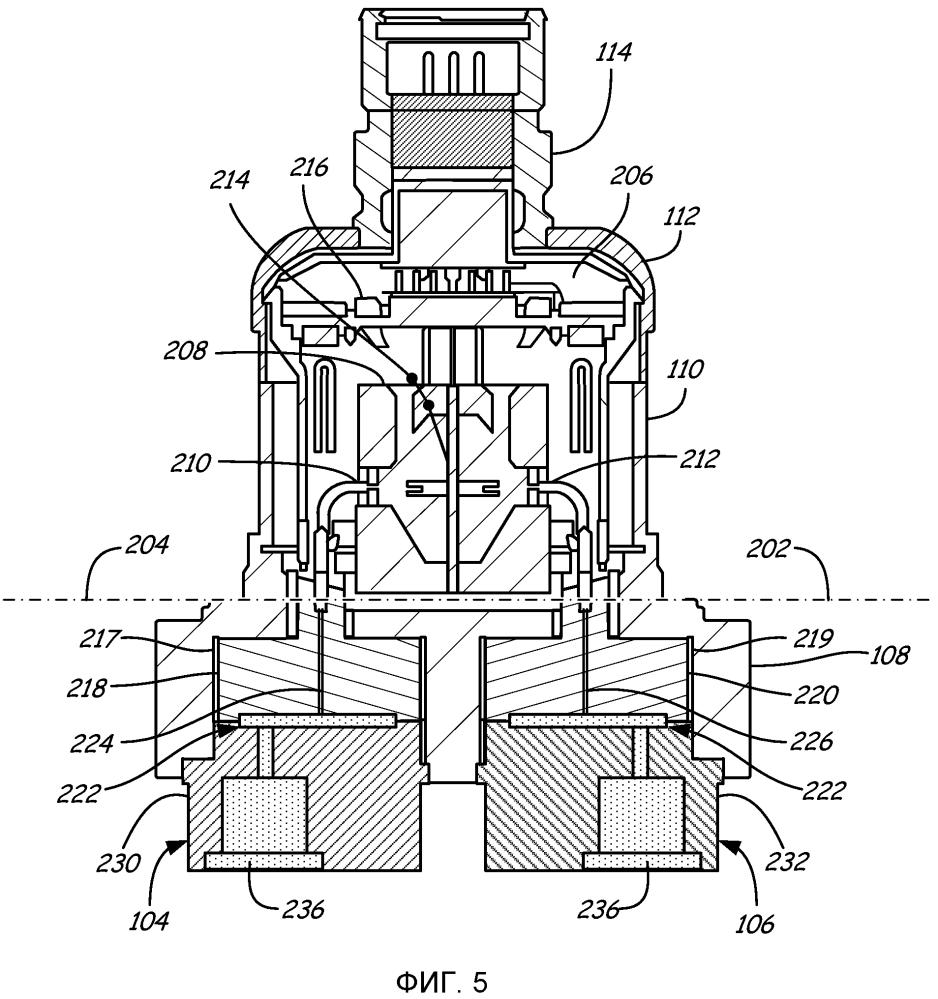 Модуль датчика давления для подводных применений