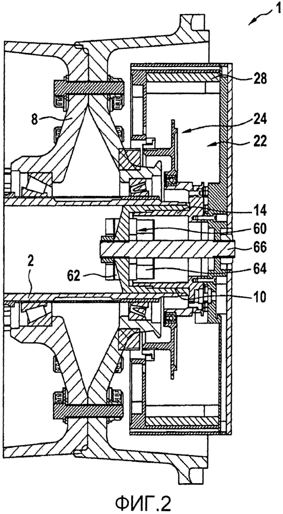 Блок привода колеса для присоединения к шасси летательного аппарата