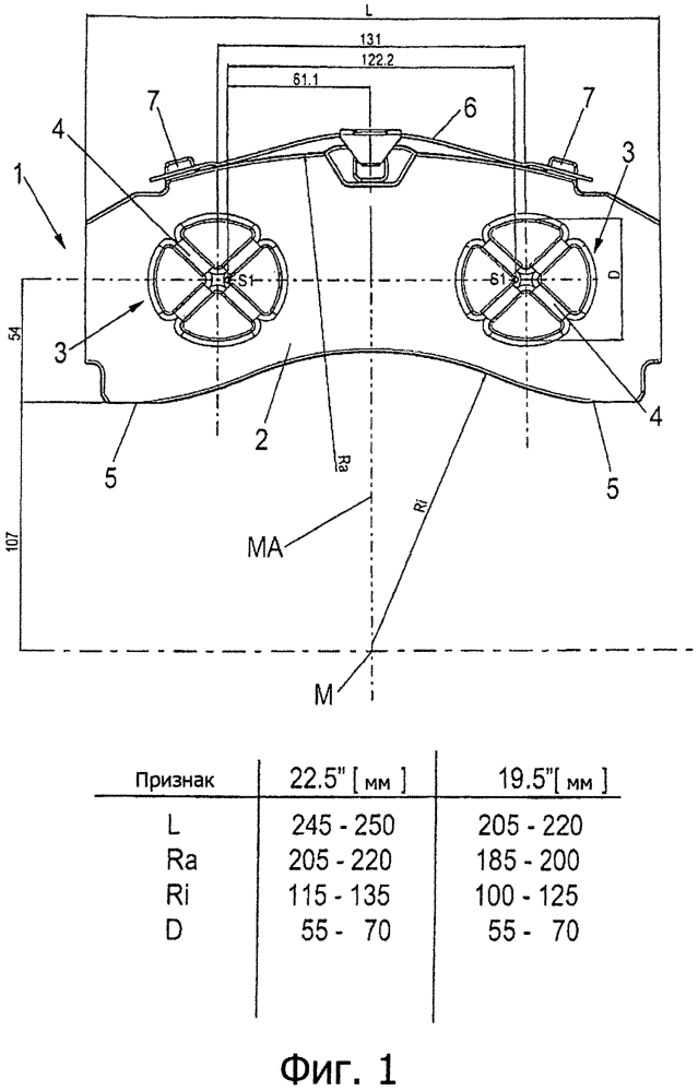 Тормозная колодка дискового тормоза
