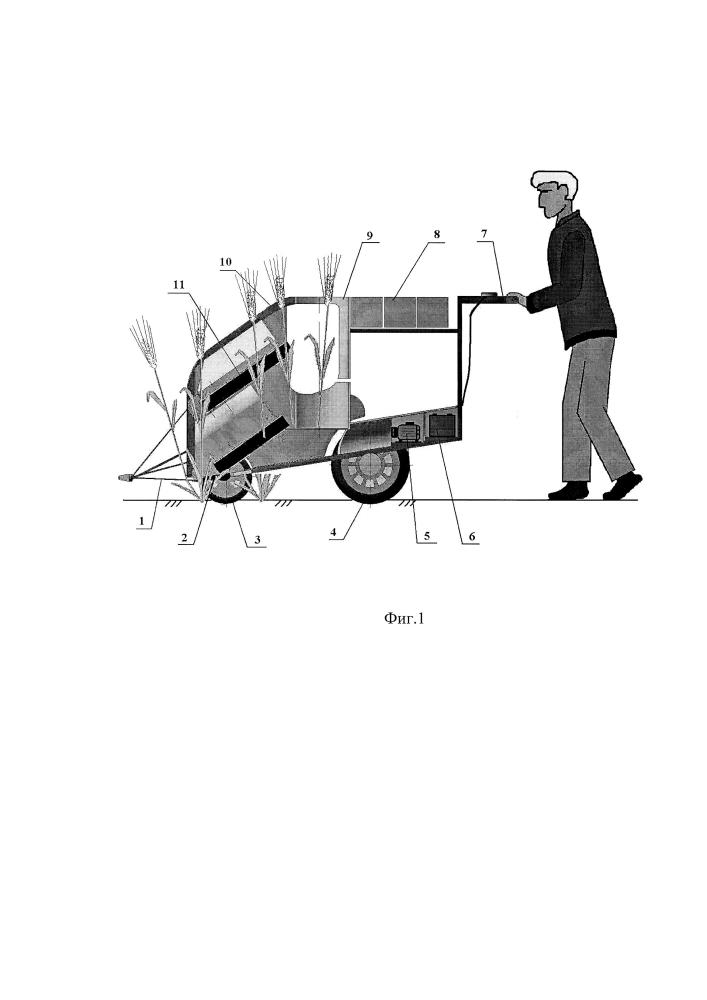 Косилка самоходная однорядковая для уборки зерновых колосовых культур с селекционных делянок ii этапа селекционных работ