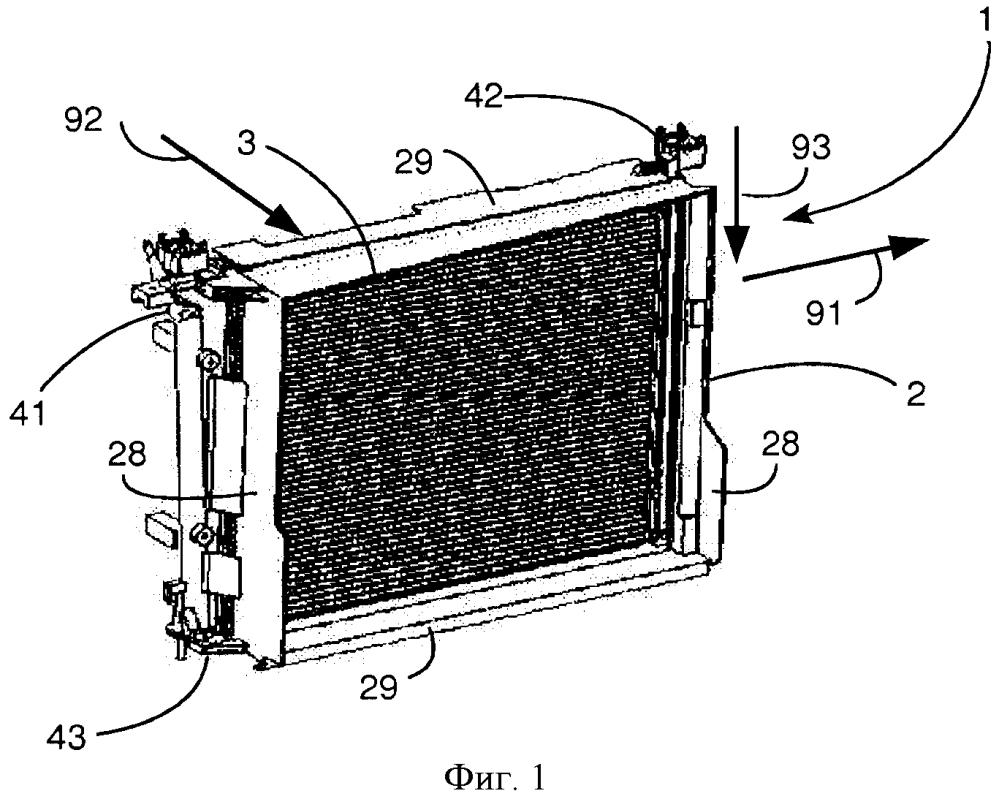 Способ монтажа воздуховода на теплообменнике автотранспортного средства
