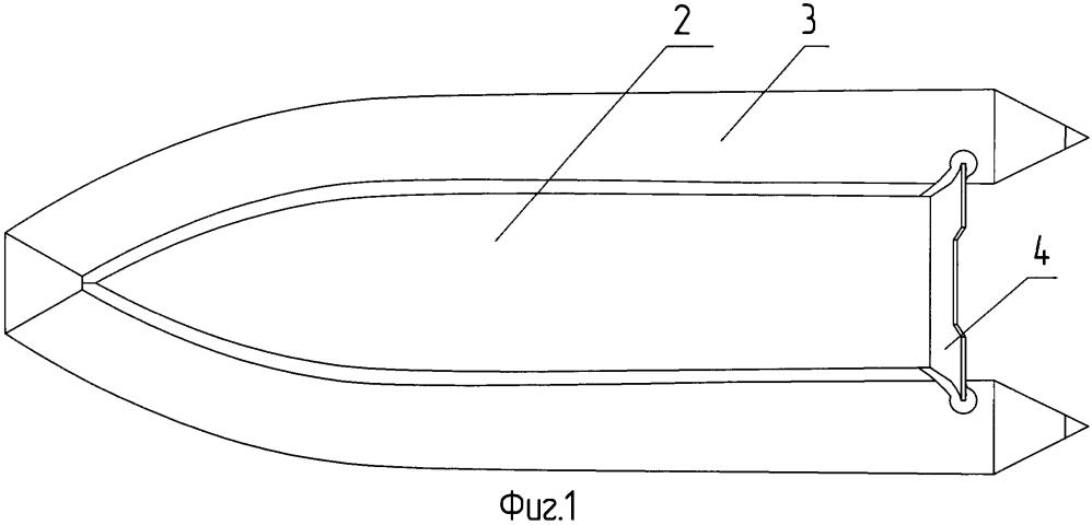 Складная лодка класса rib с надувным днищем