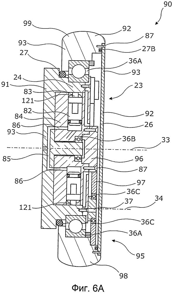 Скважинный приводной модуль, имеющий гидравлический двигатель с системой планетарной передачи