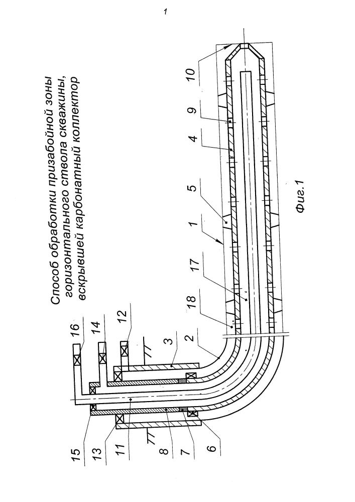 Способ обработки призабойной зоны горизонтального ствола скважины, вскрывшей карбонатный коллектор