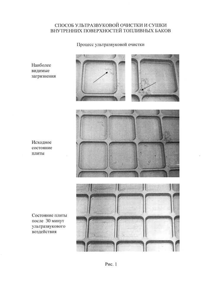 Способ ультразвуковой очистки и сушки внутренних поверхностей топливных баков