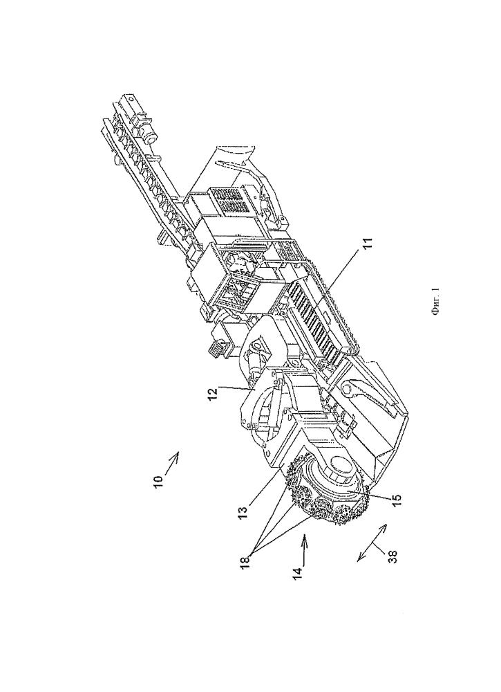 Устройство для проходки дроблением скальной породы, минералов или других материалов