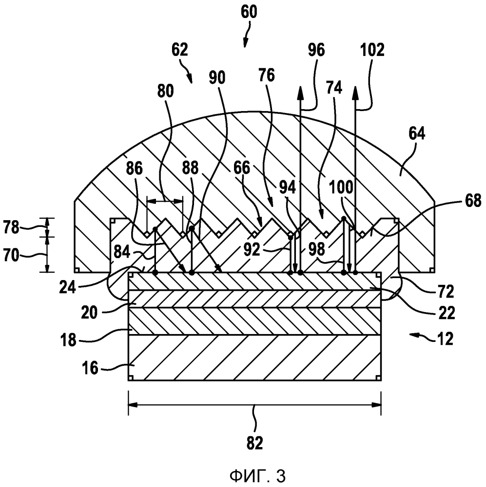 Ультразвуковой датчик с акустической линзой