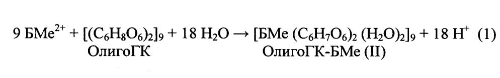 Способ получения координационных соединений олигогалактуроновой кислоты с биогенными металлами (ii), как систем доставки биогенных металлов (ii) и систем выведения тяжелых металлов (ii)