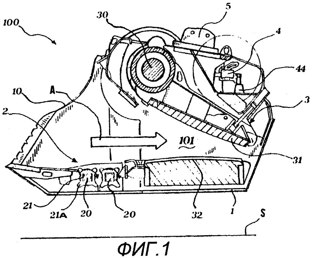 Ковш для просеивания и дробления инертного материала, содержащий балансировочный клапан
