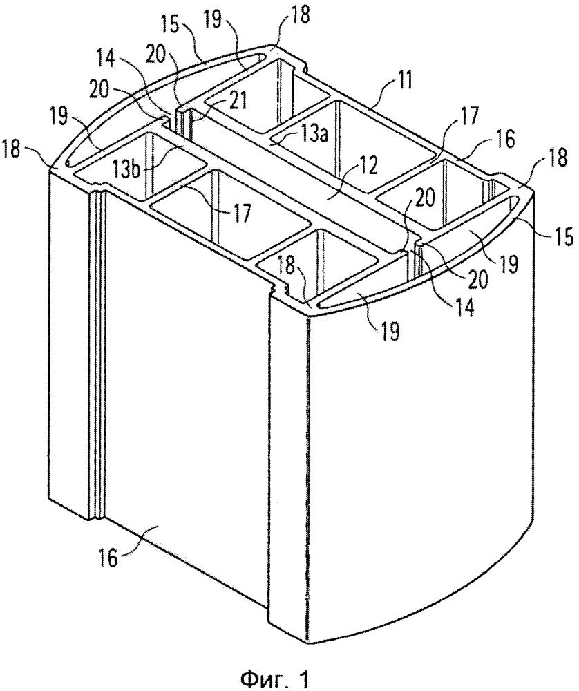 Охлаждающий и удерживающий корпус для нагревательных элементов, нагревательное устройство и способ изготовления охлаждающего и удерживающего корпуса
