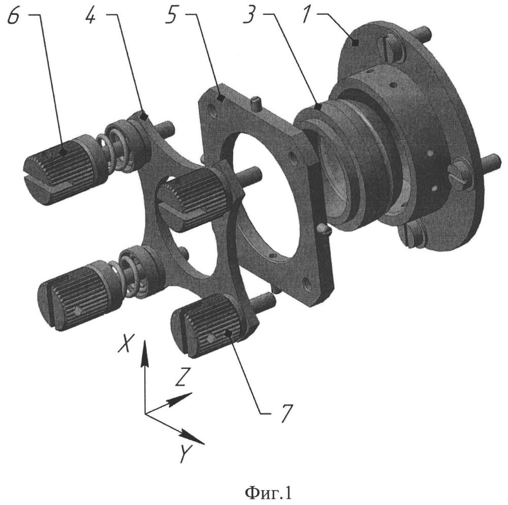 Устройство юстировки сферической оправы оптического элемента