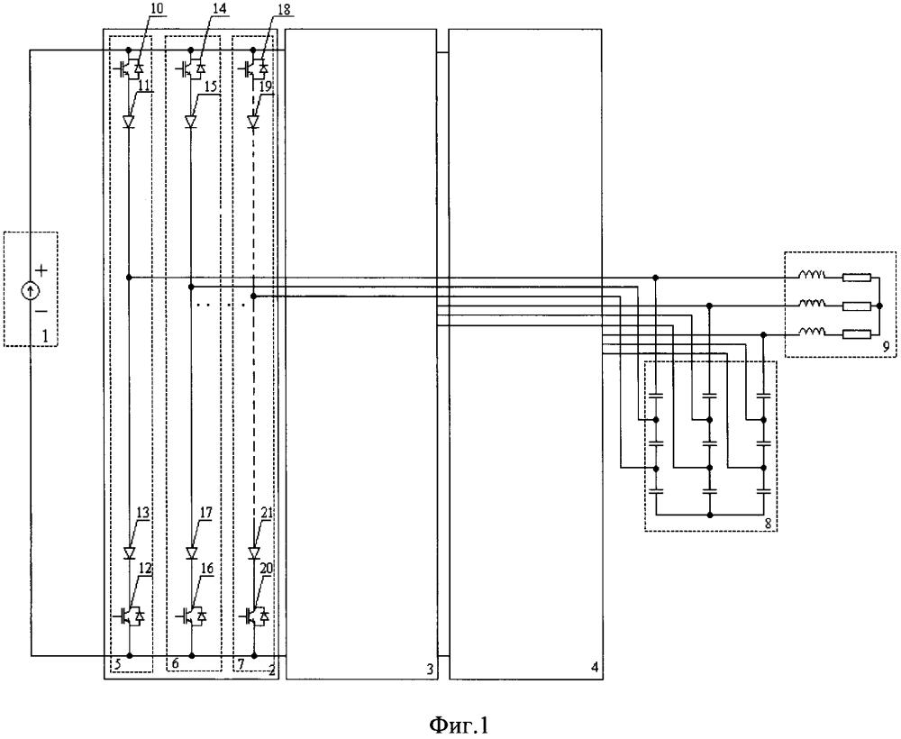 Многозонный преобразователь постоянного тока в переменный