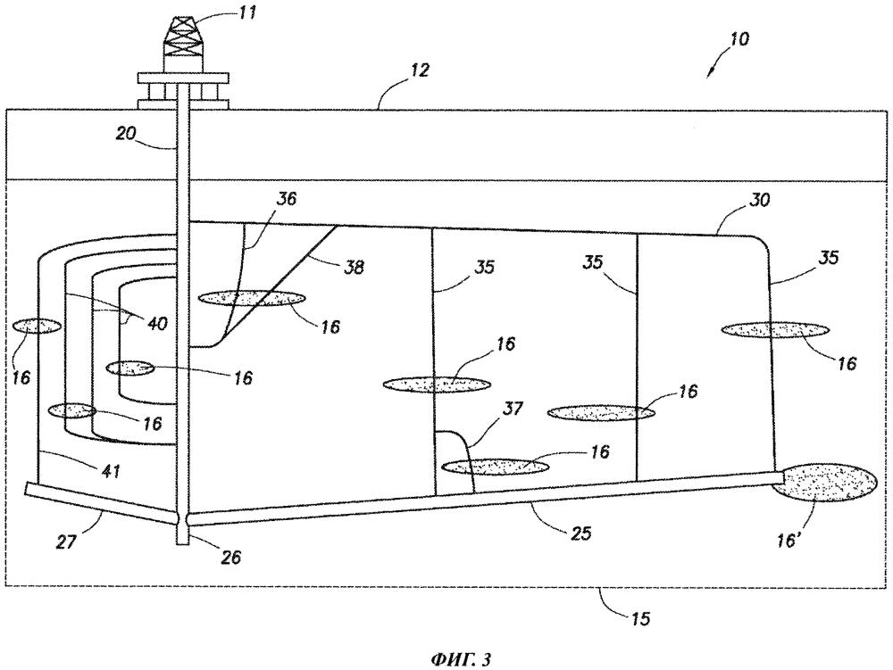 Подземная скважинная система со множеством дренажных скважин, отходящих от эксплуатационной скважины, и способ ее использования