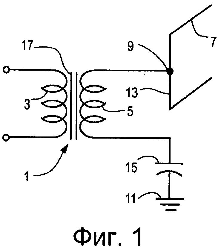 Способ и система подачи радиочастотного сигнала в систему, содержащую текучую среду