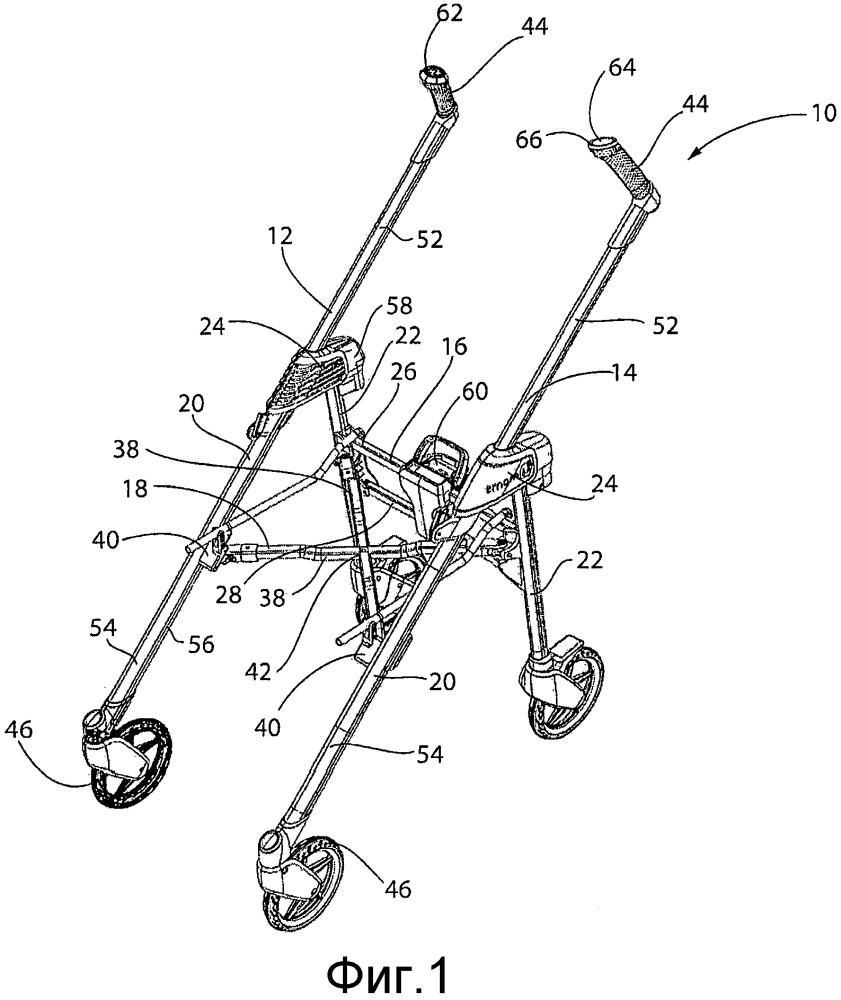 Легковесная складная прогулочная детская коляска