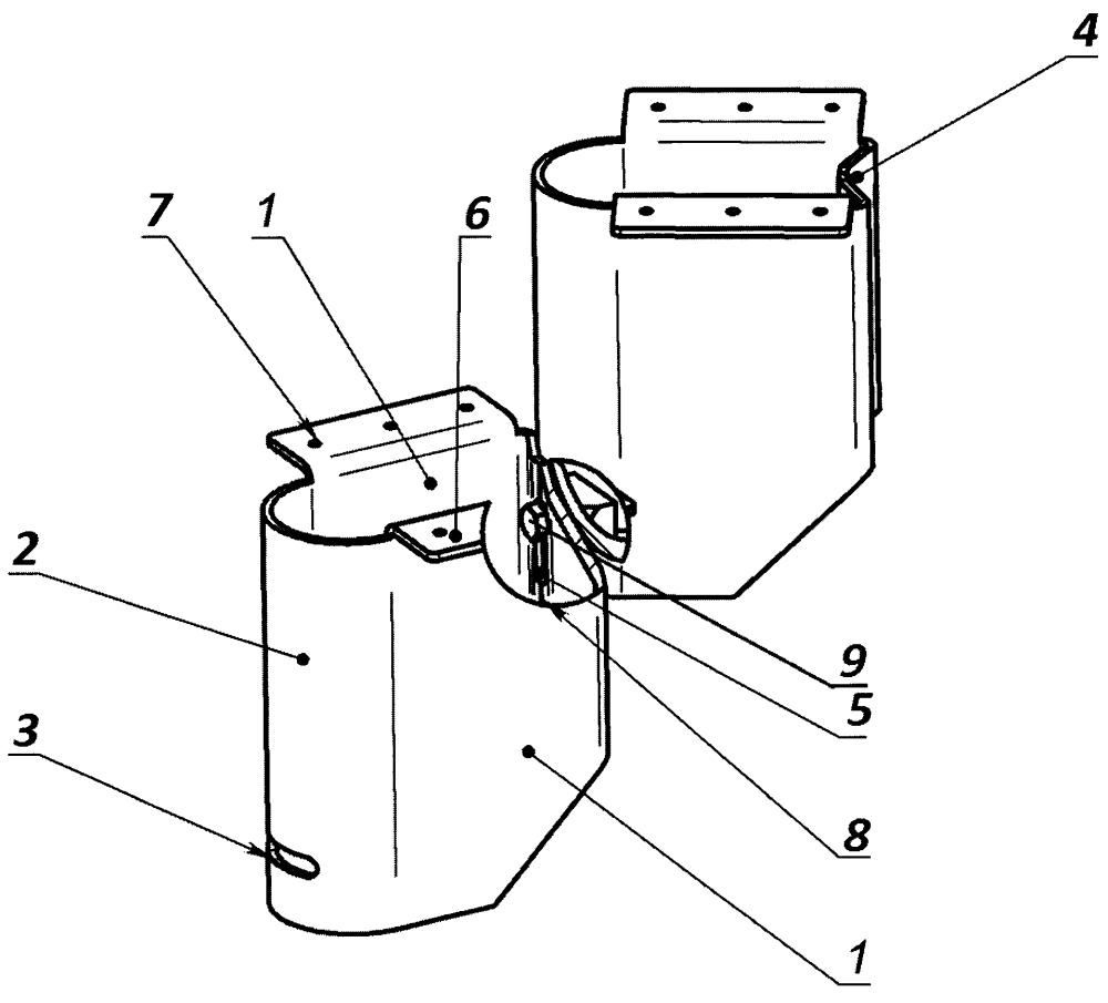 Универсальный опорный модуль для ступеней лестницы и опалубки