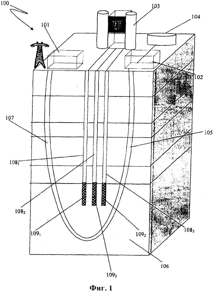 Система и способ производства электроэнергии с применением гибридной геотермальной электростанции, содержащей атомную электростанцию
