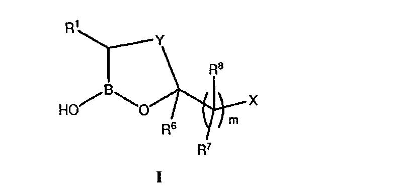 Циклические бороновые кислотно-эфирные производные и их использование в терапии