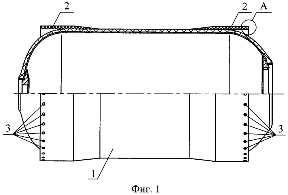 Силовая оболочка из слоистого композиционного материала