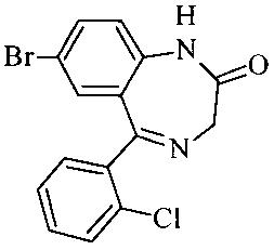 Способ получения 7-бром-5-(2-хлорфенил)-1,3-дигидро-2н-1,4-бензодиазепин-2-она