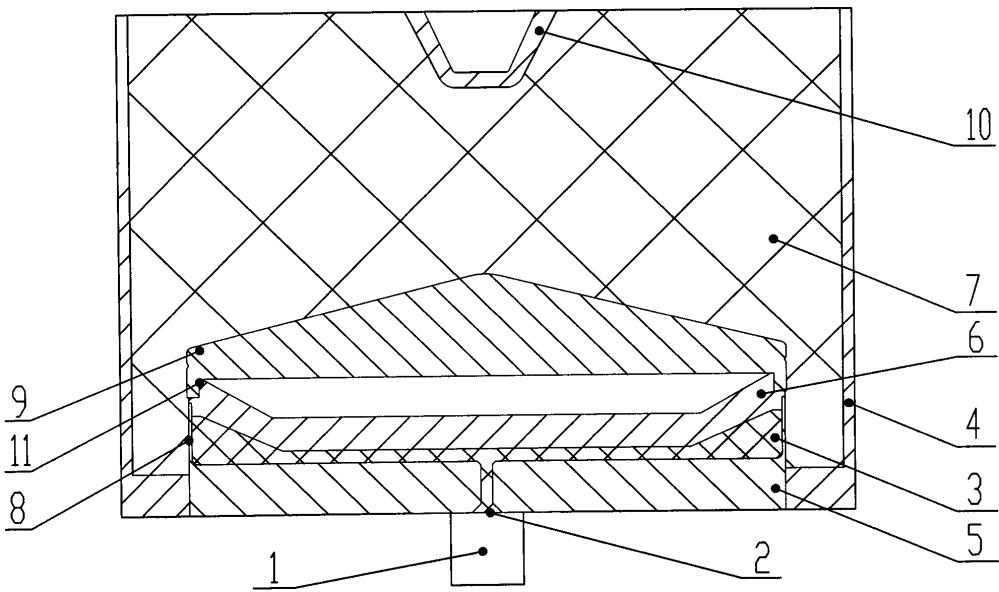Узел инициирования осесимметричный с кумулятивной воронкой боевой части