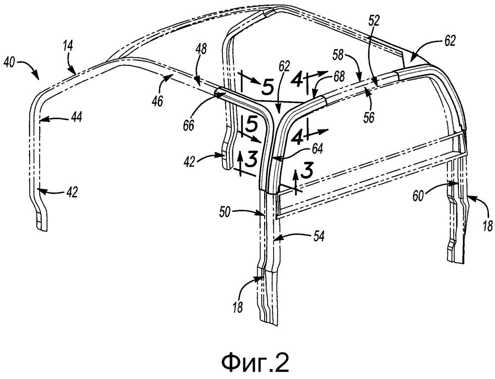 Конструкция кузова и крыши транспортного средства