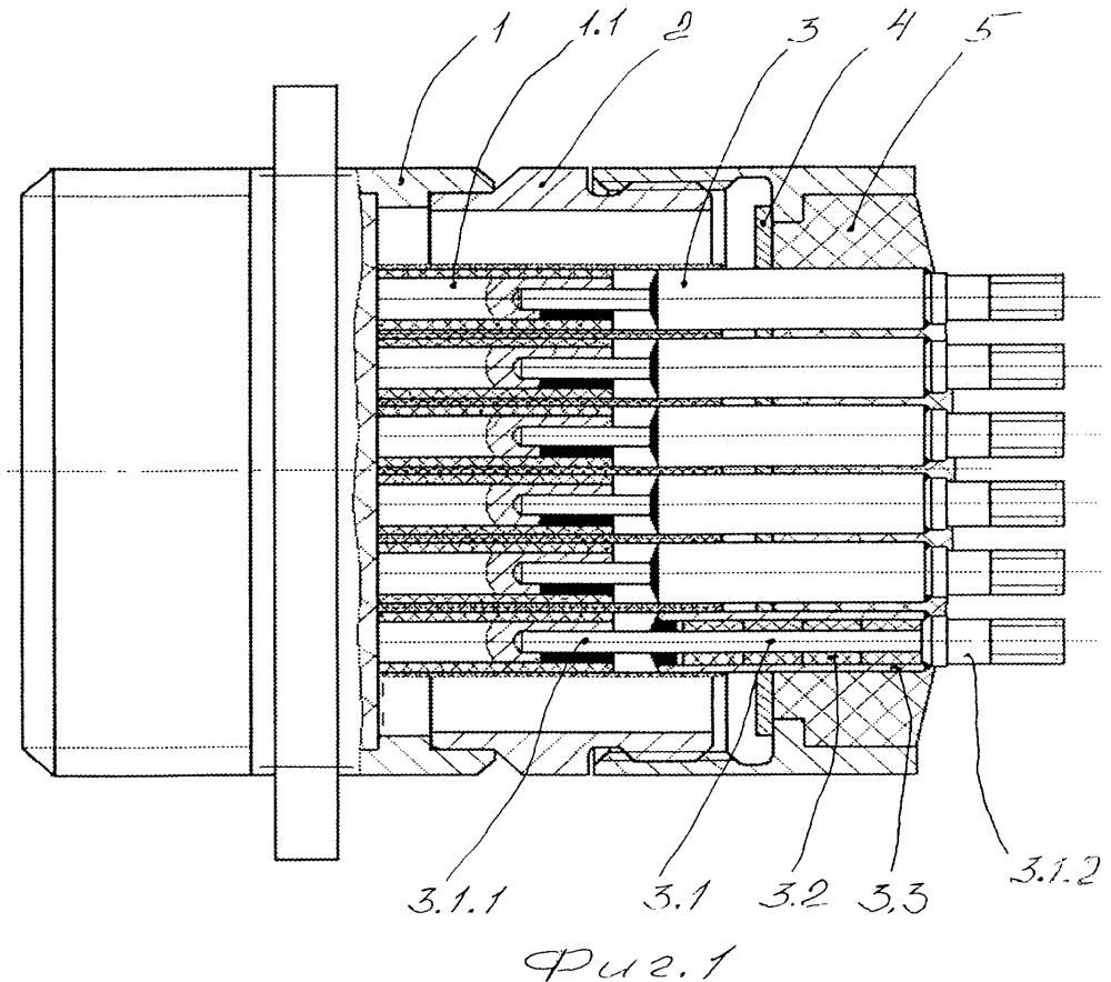 Электрический соединитель со встроенными фильтрами нижних частот