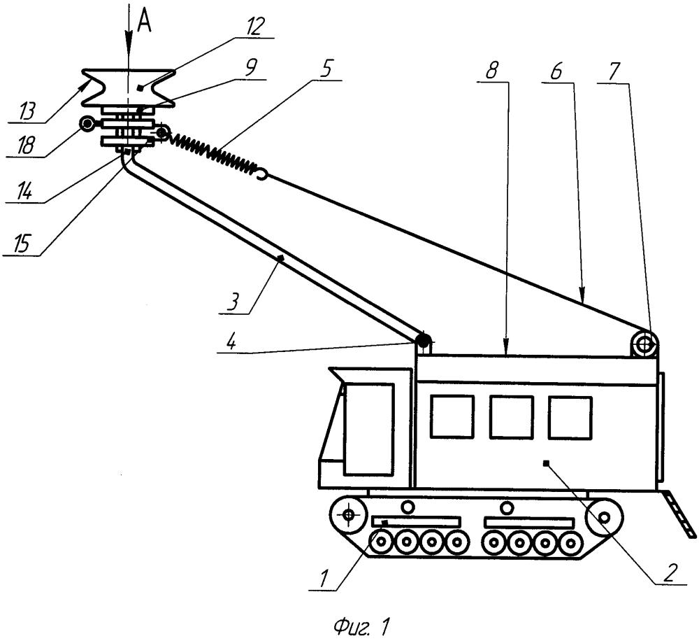 Установка мобильная для удаления гололёда с провода линии электропередач