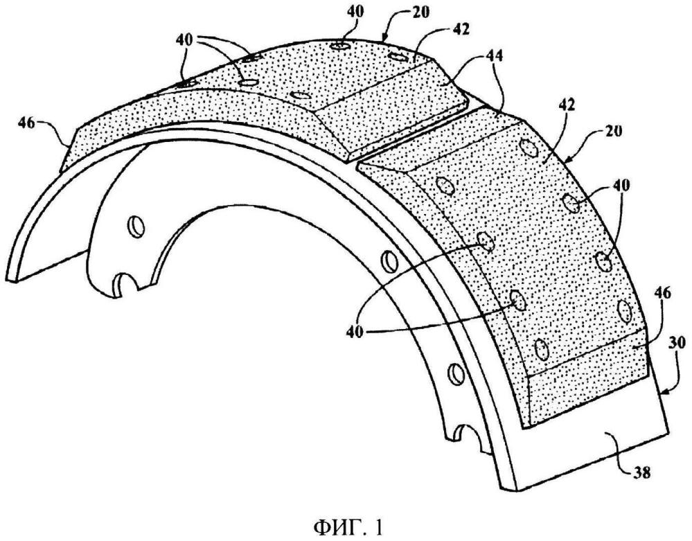 Фрикционная накладка, тормозная колодка и узел барабанного тормоза