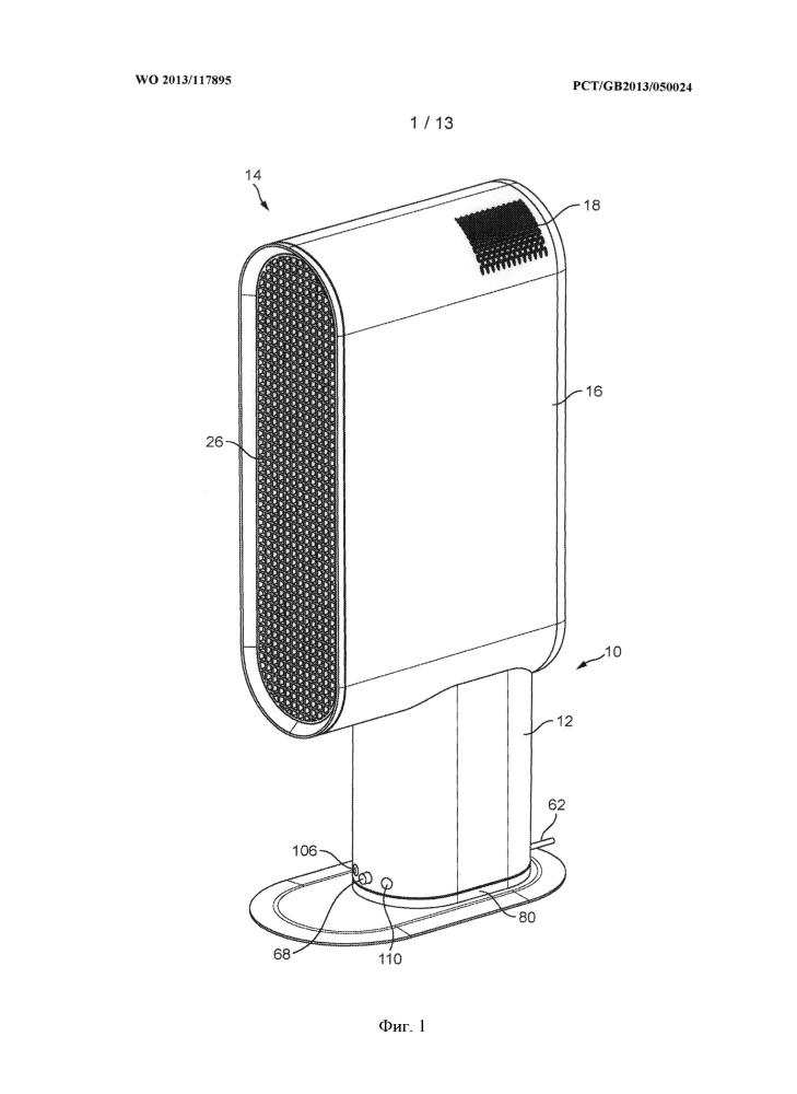 Вентилятор эжекторного типа с ионизатором