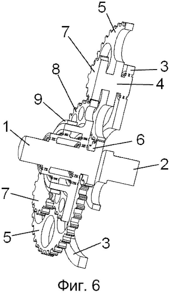 Система взаимосвязи двух валов с неизменным взаимным зацеплением шестеренок