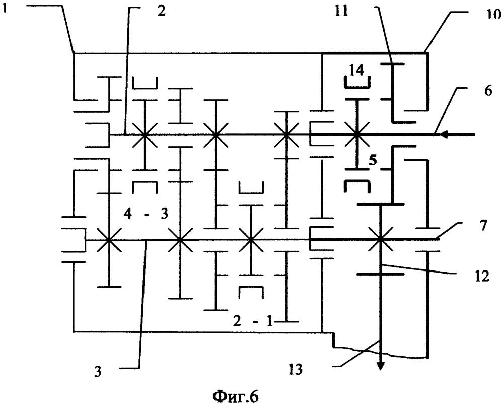 Способ получения вариантов конструкции несоосной коробки передач