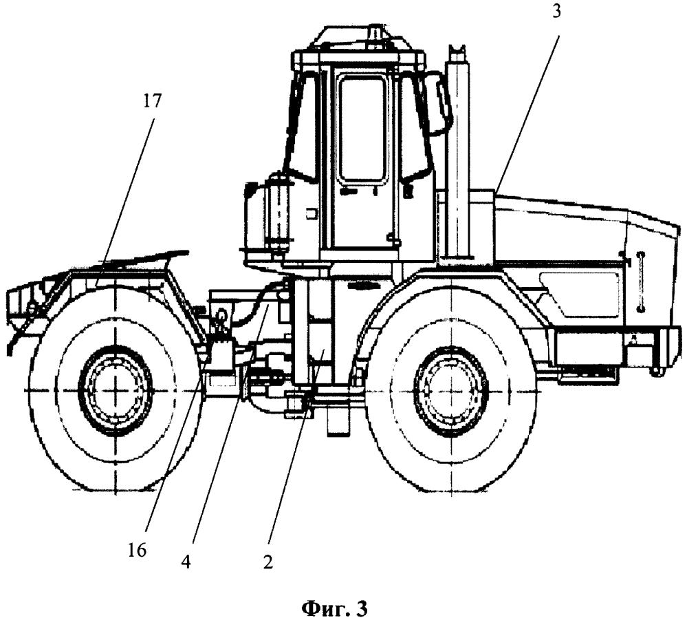 Торсионный стабилизатор сцепного веса полурамного трактора