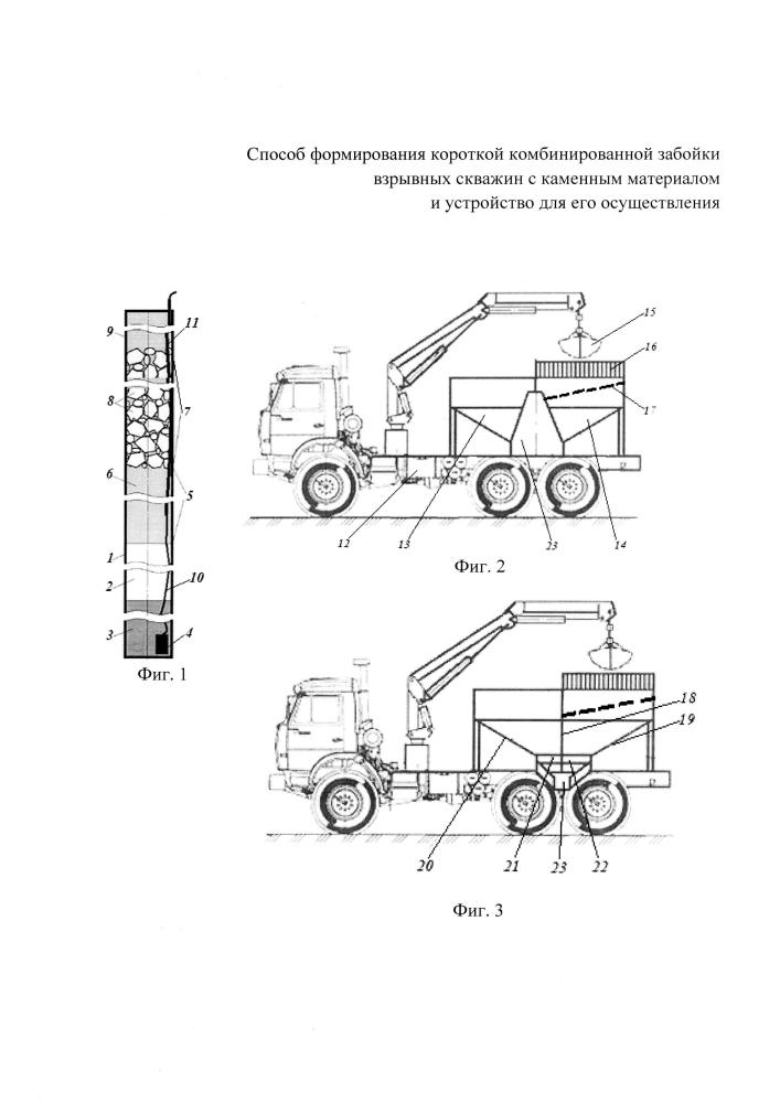 Забоечная машина для формирования короткой комбинированной забойки взрывных скважин с каменным материалом</span>
