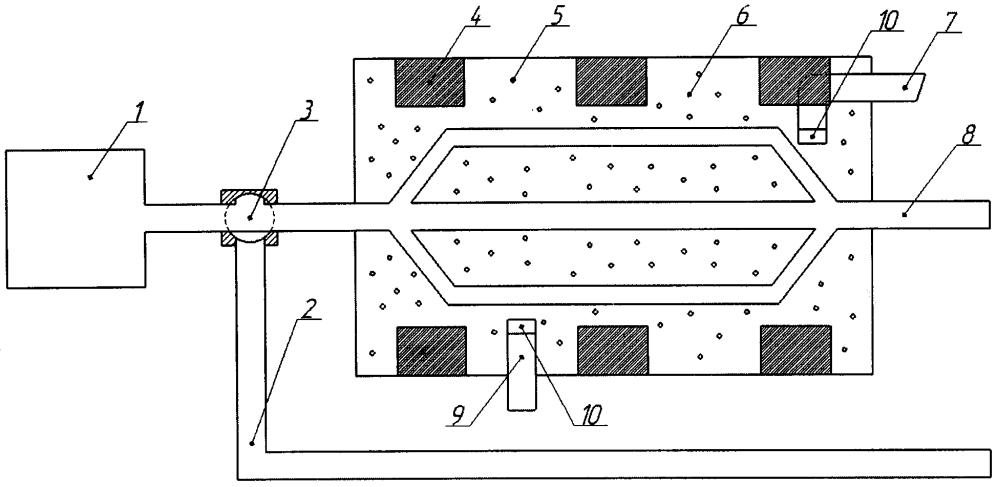Устройство ускоренного прогрева объемного гидропривода строительных машин