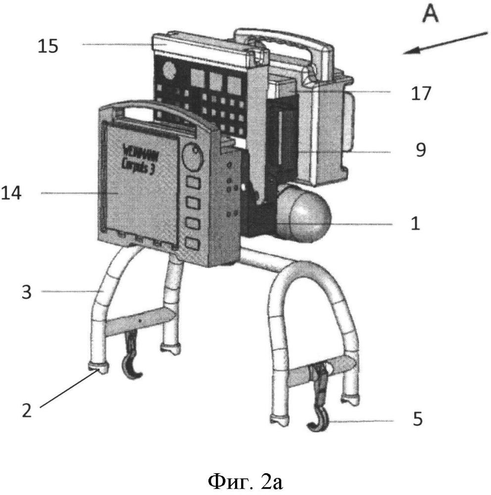 Медицинский модуль на санитарных носилках