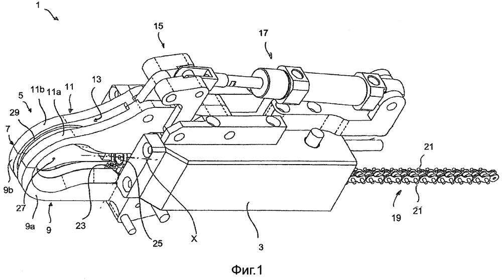 Устройство и способ автоматического скручивания металлических проволок, в частности для соединения соседних, предпочтительно перекрещивающихся структурных элементов