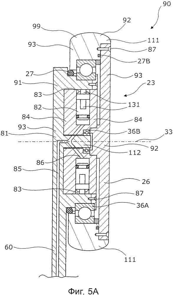 Скважинный приводной модуль, имеющий гидравлический двигатель с неподвижным кольцевым кулачком