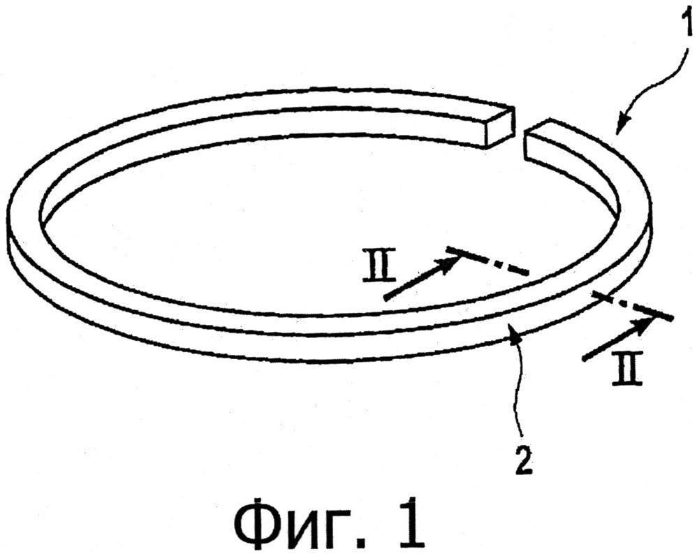 Поршневое кольцо, применение поршневого кольца и способ нанесения защитного покрытия для поршневого кольца