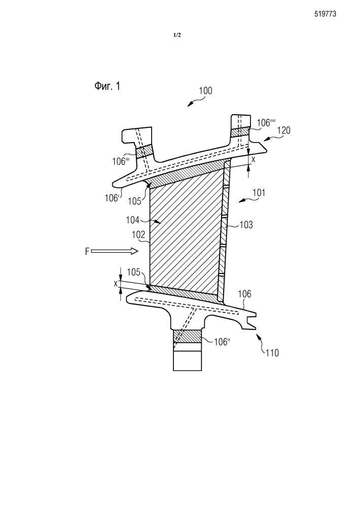Лопаточный узел со связующим ptal покрытием и термобарьерным покрытием и соответствующий способ изготовления