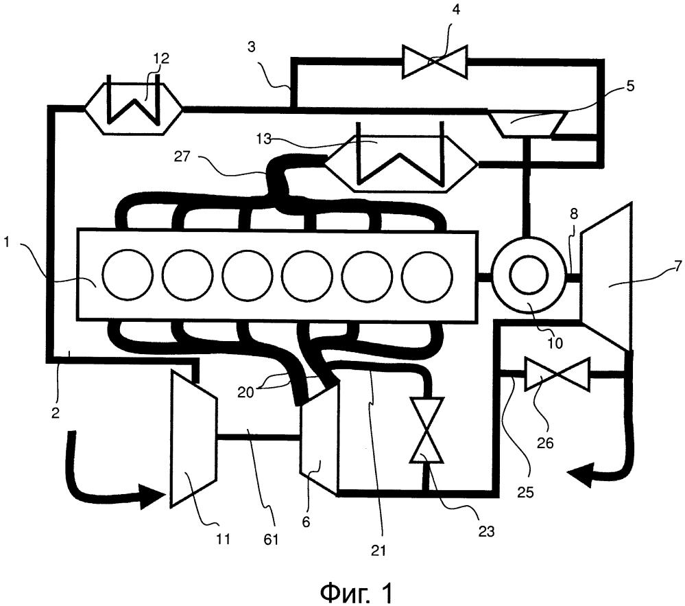 Турбокомпаундная двигательная установка с наддувом