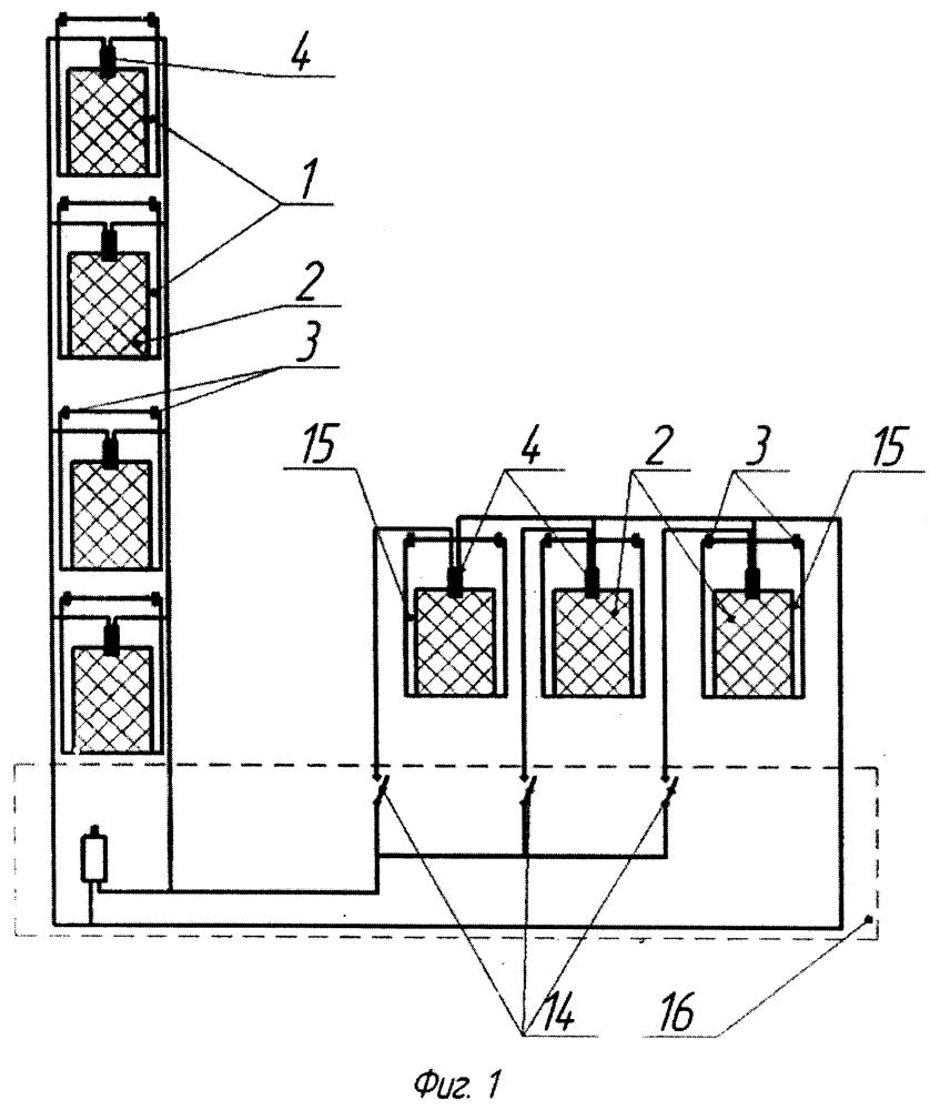 Система объемного пожаротушения в вагонах электропоездов
