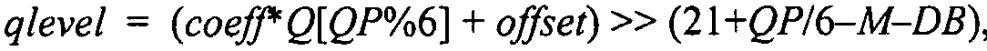 Способ и устройство для ограничения уровня квантования