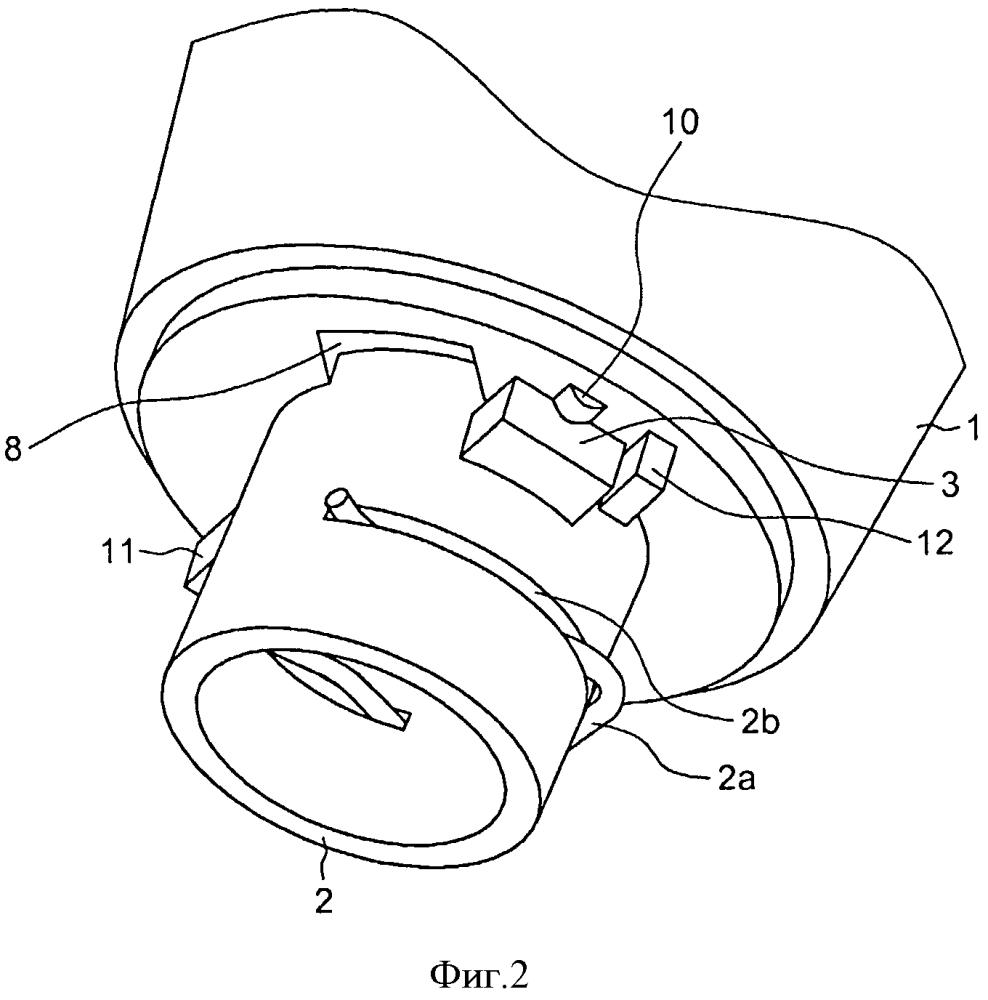 Система крепления головки рычага переключения передач на сильфоне