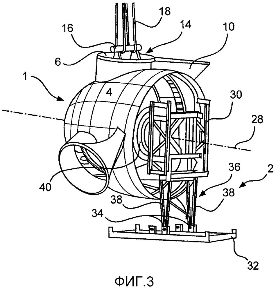 Способ и устройство для монтажа ступицы ротора ветроэнергетической установки