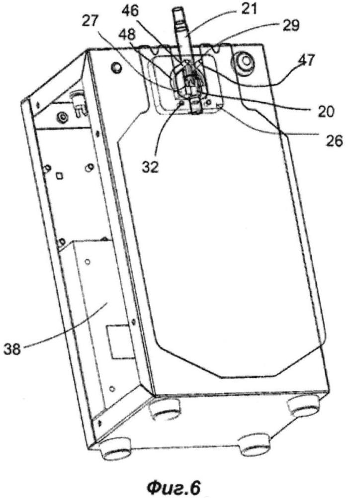 Устройство для разламывания по меньшей мере одного запорного элемента, расположенного внутри гибкой трубки